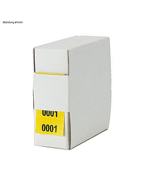 Archiv-Nummern, doppelt 6001 - 7000, gelb, Med + Org, medishop.de