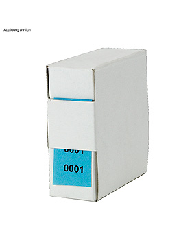 Archiv-Nummern, doppelt 12001 - 13000, blau, Med + Org, medishop.de
