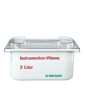 Helipur Instrumentenwanne 2 Ltr. mit Siebeinsatz und Deckel, B.Braun, medishop.de