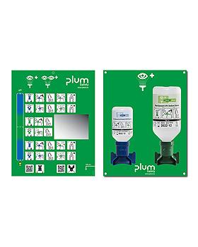 Plum Augen-Notfallstation offen, 2 Flaschen inkl. Wandhalter, Piktogramm,, Plum Deutschland, medishop.de