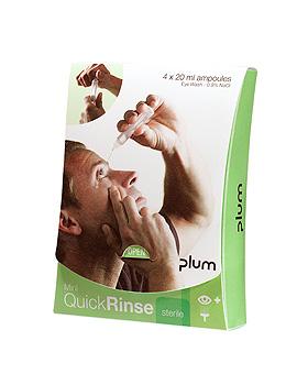 QuickRinse Mini Augenspülampullen (4 x 20 ml), Plum Deutschland, medishop.de