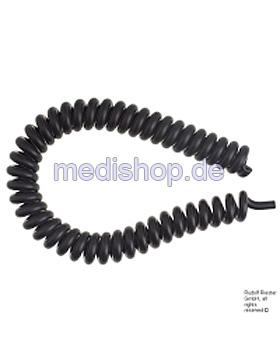 Latexspiralschlauch, schwarz, Riester, medishop.de