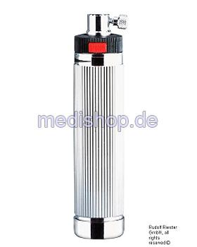 Batteriegriff Typ C Rheostat, Ø 28 mm, verchromt für 2 Batterien Typ C, Riester, medishop.de