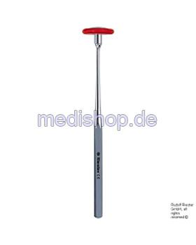 babinski Perkussionshammer 24 cm, Griff verchromt, Riester, medishop.de