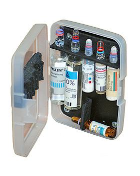 BTM-Box Taschenampullarium transparent mit 6 Steckplätzen, Teutotechnik, medishop.de