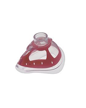 Bi-Maske Gr. 4 Erwachsene mittel, 22 mm I.D., rot, mit Silikonlippe, VBM Medizintechnik, medishop.de