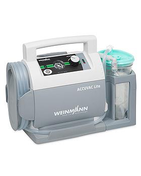 ACCUVAC Lite elektrische Absaugpumpe mit Einwegbehältersystem Serres, Weinmann, medishop.de