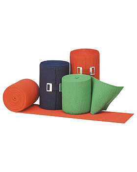 Urgolast color Kurzzugbinde,  6 cm x 5 m, rot, 10 Stück, Urgo, medishop.de