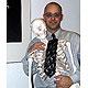 Sport-Skelett-Krawatte, schwarz