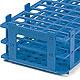 Reagenzglasgestell, PP, blau, für 21 Röhrchen bis Ø 30 mm, 5 Stück