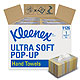 KLEENEX Ultra Soft Pop-Up Handtücher, 1-lagig, weiß, 26 x 22,5cm (18 x 70 Bl.)