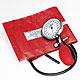 Prakticus I Blutdruckmessgerät Ø 68 mm 1-Schlauch, rot, kpl. im Etui