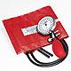 Prakticus II Blutdruckmessgerät Ø 68 mm 2-Schlauch, kpl. rot