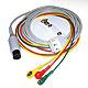 3-adriges EKG Kabel 3 m mit Ableitung, Druckknopf ICE
