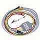 3-adriges, einteiliges Kabel (IEC) 3 m, mit Druckknopfanschlüssen