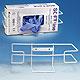 Handschuhbox-Halterung ratiomed, aus Draht, weiß