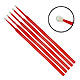 Einmal-Applikatoren medium, beflockt, rot, 103 mm lang (100 Stck.)